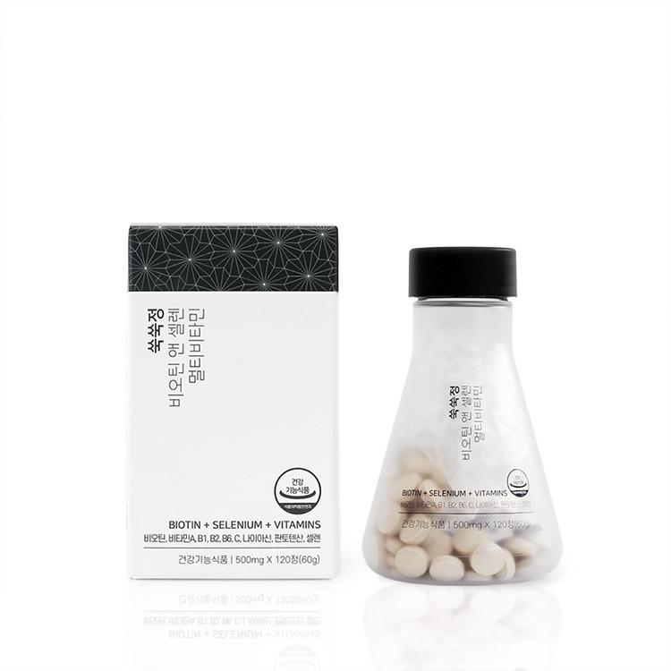 [SSJ Biotin&Selen] Biotin & Selenium 120 Tablets 60 Days Hair Loss Symptom Relief